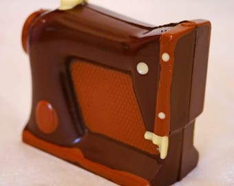 Hand-made Belgian Chocolate Sewing Machine