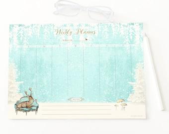 Christmas weekly planner printable, instant digital download, Deer, reindeer holiday printable,  Personal use only