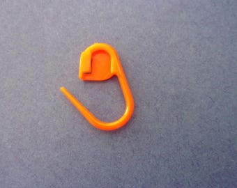 Mini brand-mesh plastic orange - 22 mm
