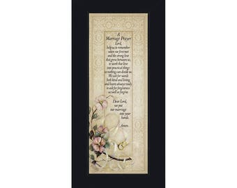 Marriage Prayer, Christian Marriage Gift, Frame Wedding Gift, 6x12 7757