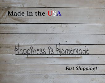 Happiness is Homemade, Family Decor, Livingroom Decor, Kitchen Decor, Wedding Gift, Anniversary Gift, Country Art, Family, Friends, S1268