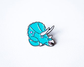 Triceratops dinosaur enamel pin. dinosaur pin enamel lapel pin best friend gift dinosaur birthday guy best friend gift science