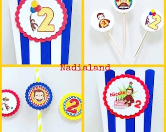Curious George Party KIT/Birthday Curious George/Birthday Kid & Toddler/Theme Design/The Curious George/party