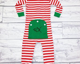 Kids Pajamas with Faux Butt Flaps