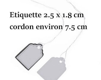 200 price labels white and silver 2.5 x 1.8 cm