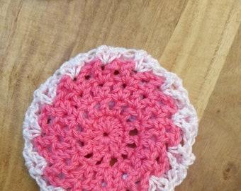 Bun cover – ballet bun cover - crochet bun cover - pink and white bun cover – hair net - bun net