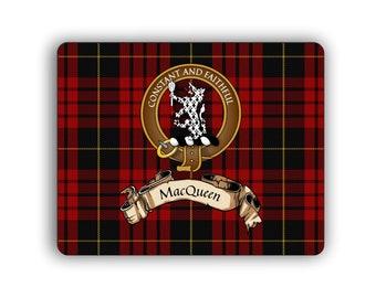 MacQueen Scottish Clan Tartan Crest Computer Mouse Pad