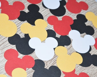 Mickey Mouse Head Confetti, Minnie Mouse party decoration, Mickey Mouse party decoration, Mouse Head Confetti, Mickey or Minnie Confetti