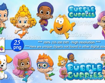 25 Bubble guppies Clipart - 25 PNG - 300 Dpi, Bubble guppies png, Bubble guppies clip art, Bubble guppies Instant download - ONLY FILES