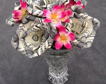 Money Roses, Money Roses Bouquet, Money Flowers, Money Origami, Anniversary Gift, Birthday Gift, Unique Gift, Dollar Roses, Handmade Roses