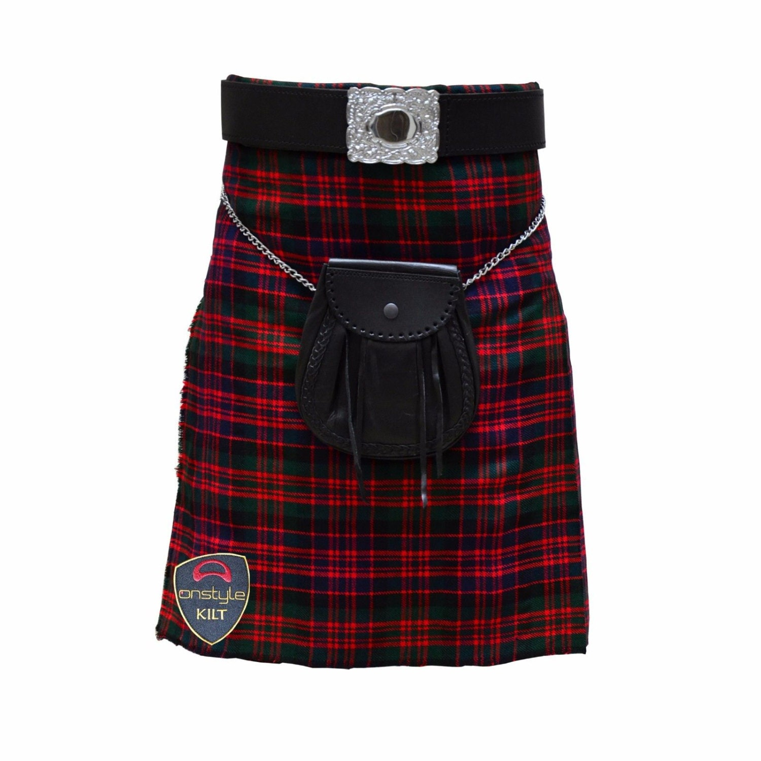 Onstyle Scottish Highland Active Men Utility Sports Black Watch Tartan Kilts pgD586Lz