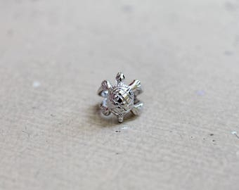 Sterling Silver 925 Lucky Turtle Ear Cuff