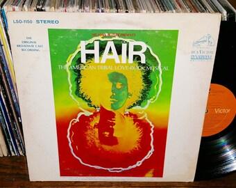 Hair Vintage Vinyl Musical Rock Record