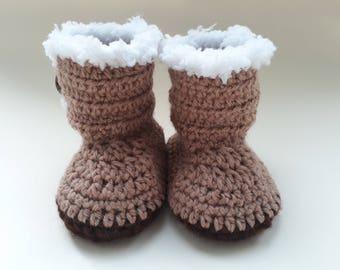 Crochet Baby Boots 3-6 Months