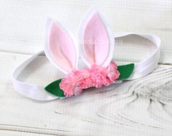 Easter Headband, Bunny Ears Headband, Easter Headband, Easter Bunny Headband, Bunny Ears, My First Easter, Baby Headband