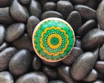 Flower Handpainted Rock