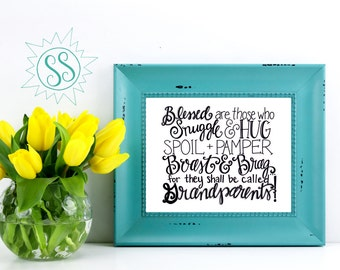Christian Art Prints / Grandparents Day Gift / Gifts for Grandparents / Mother's Day Gift / Father's Day Gift / Christian Wall Art / THW033