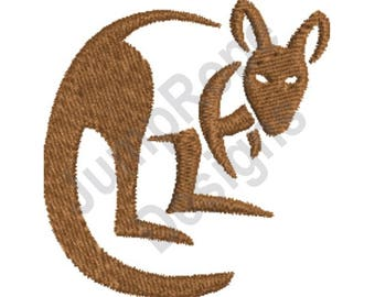 Kangaroo - Machine Embroidery Design