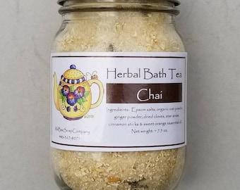 Chai Tea Herbal Bath Tea, Bath Tea, Bath Salts, Skincare