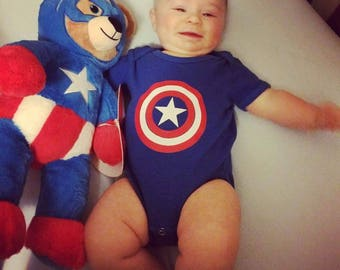 Captain America shield onesie or youth shirt