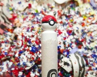 Pokeball Pokemon carved crayon
