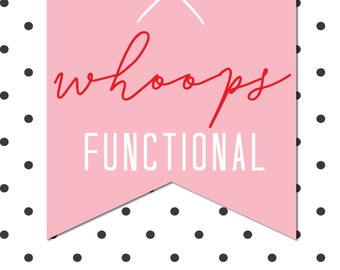 FUNCTIONAL Whoops Bag - 10 sheets of imperfect stickers