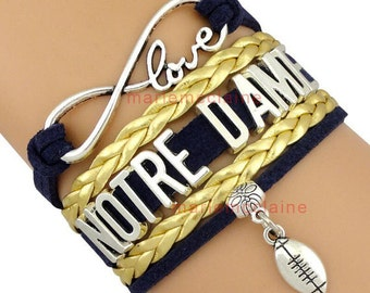 Notre  Dame Infinity  bracelet 8 inch bracelet and extension chain