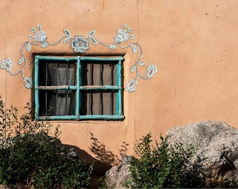 Turquoise Window New Mexico print 8x12 or 16x24