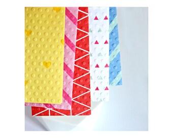Bright Envelopes {5 w cards + seals} | Coin Money Voucher Envelopes | Pattern Envelopes | Escort Florist Cards | Childrens Party Invites
