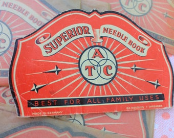 Vintage Superior Needle Book, Old Stock in Cellophane Envelope, Listing is for ONE