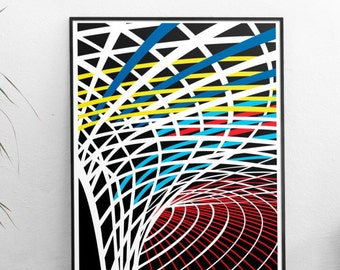 London King's Cross Poster - Illustrated Art print  Matte and Giclee in A3 or A2 sizes. Gifts for architects - Housewarming London Prints