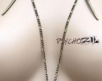 "Necklace ""Lonka"" Bronze long necklace"