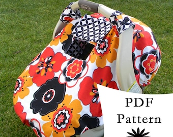 Sale! Fitted Car Seat Canopy with Peek-a-Boo Window PDF PATTERN/TUTORIAL