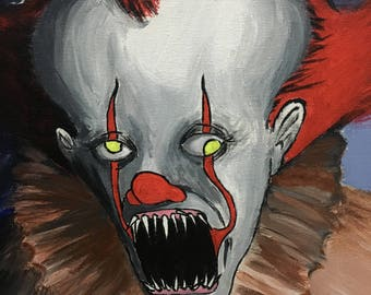 It Pennywise the Dancing Clown Acrylic painting