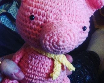 Cute crochet pig , amigurumi pig
