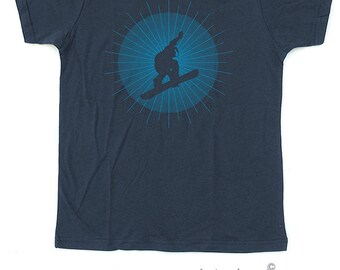 Snowboarder T shirt for children