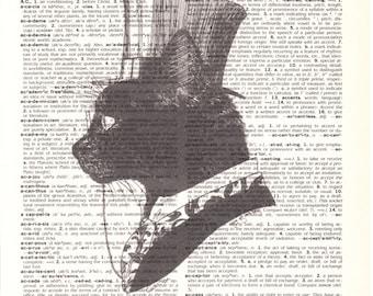Dictionary Art Upcycle True Gent Kitty