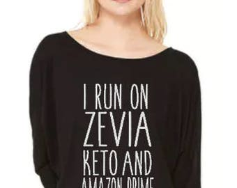 Zevia Keto and Amazon Prime - Flowy Off Shoulder T-shirt by Bella