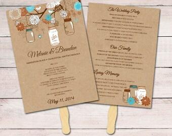 Fan Programs for Wedding Gold Wedding Program Fan Template