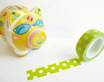 Washi Tape: Green Dots