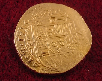 Museum Quality  Shipwrecked 1714 8 Escudo gold  reproduction