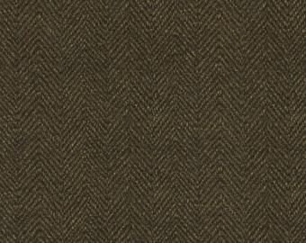 Maywood Woolies Brown Herringbone MASF-1841-J2 Flannel Fabric BTY 1 Yd