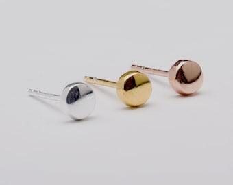 Dainty Dot Studs, Sterling Silver, Gold Plated, Dainty Earrings, Minimal Stud Earrings, Modern Jewelry,  Gift under 20USD, Lunai, STD064