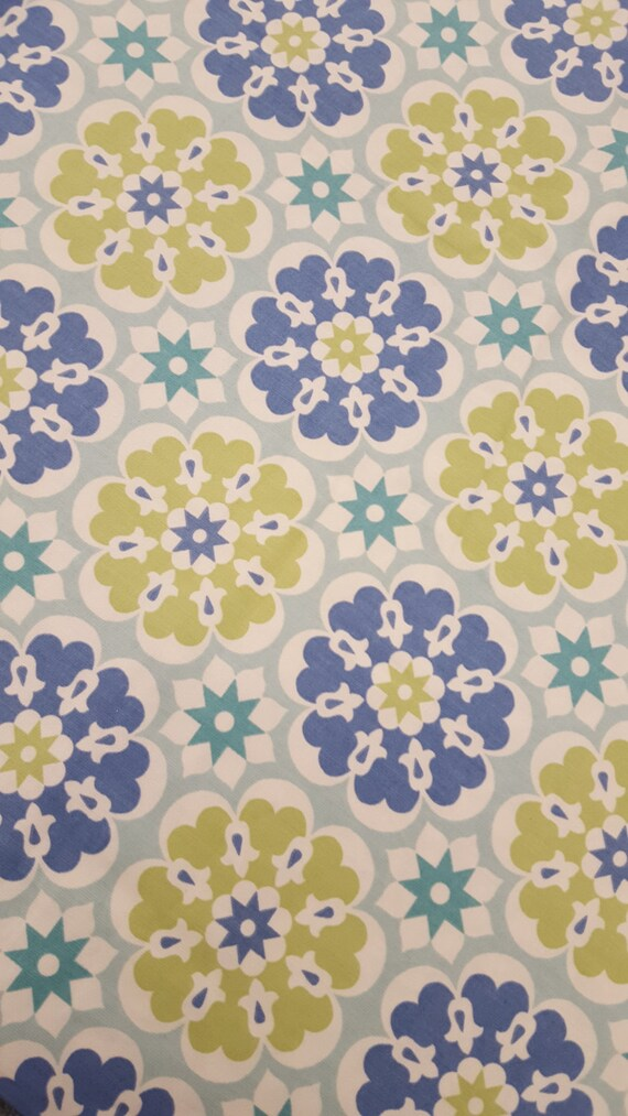 Home Decor Fabric, Cotton, MERRY GO ROUND, Seaglass, Waverly Screen Print,  Half Yard, Beautiful Fabric For Creative Genius Projects From MombieDesigns  On ...