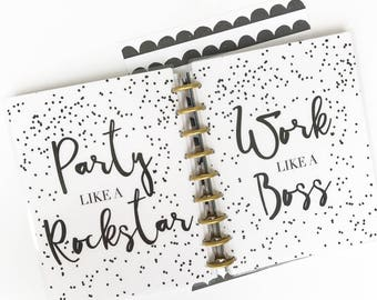 """Happy Planner Cover Set: """"Like A Boss"""" 10 Mil Laminated"""