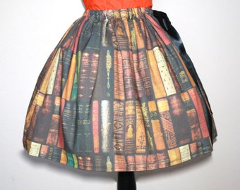 Library Book Skirt, All Sizes, Plus Size
