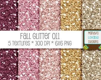 SALE - Fall Digital Glitter Texture - Burgundy Wine Gold Pink - Scrapbooking, Photography, Blog Design, Invitations - High Resolution CU OK