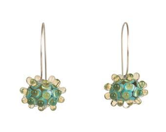 Urchin Earrings - Pale Amber