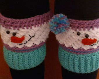 Snowman boot toppers