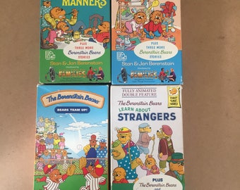 Lot Of 4 The Berenstain Bears and the Messy Room (VHS)
